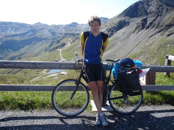 Alpy rowerem Edelweissspitze