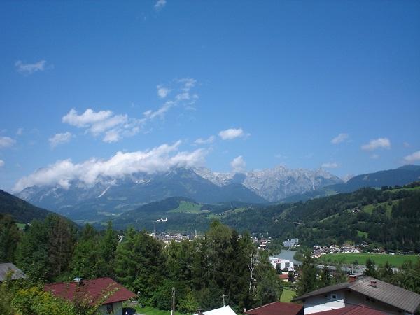 Alpy rowerem pejzaż