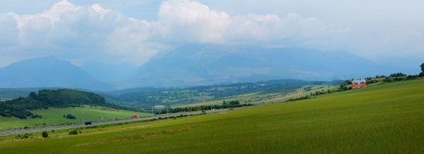 Widok słowackie tatry