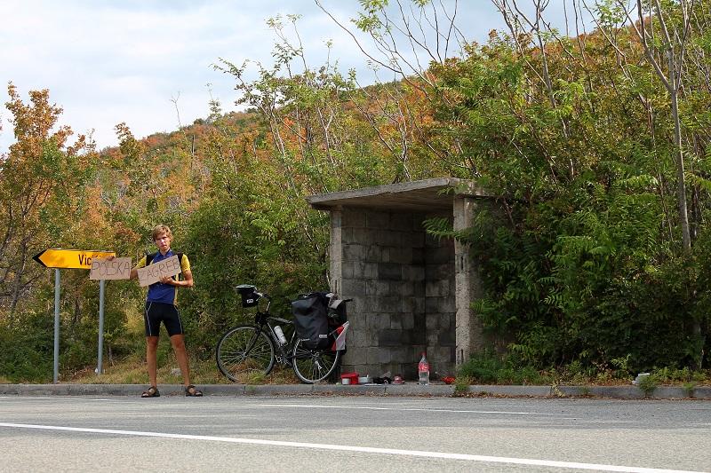 Autostop z rowerem w Chorwacji