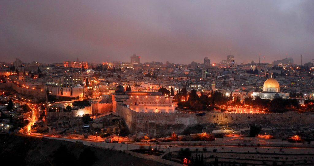 Panorama Jerozolimy ze wzgórza oliwnego