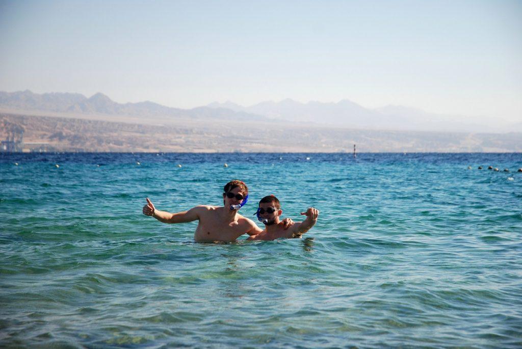 Kąpiel w Morzu Czerwonym