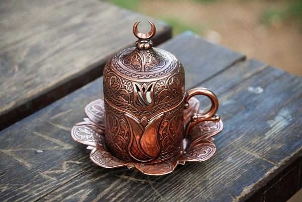 Tureckie rękodzieło szklaneczka do kawy