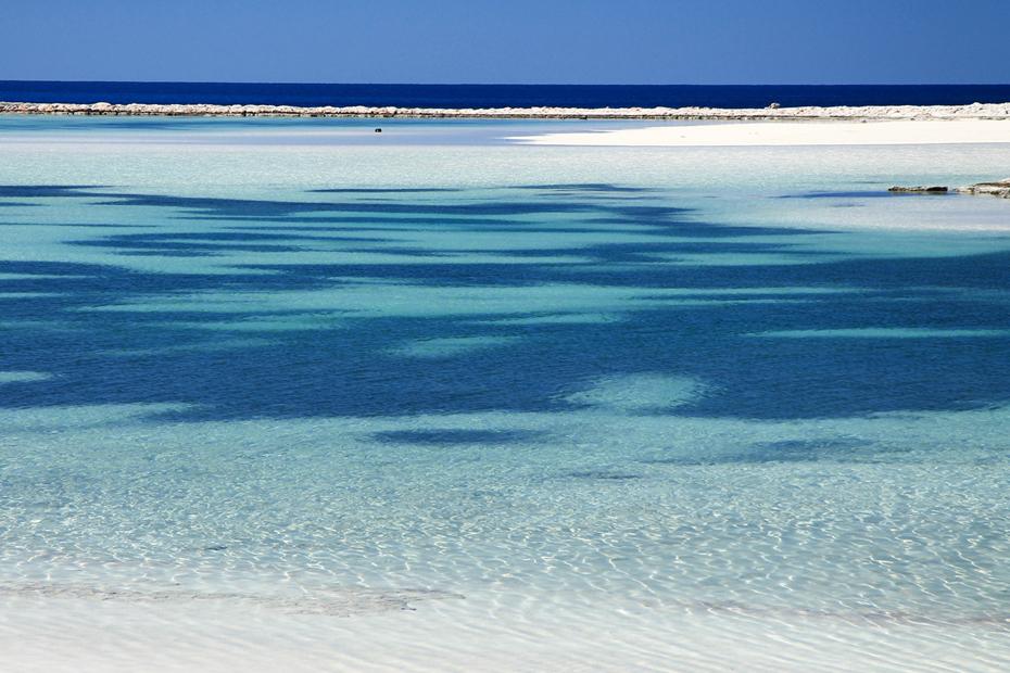 Błękitne morze śródziemne