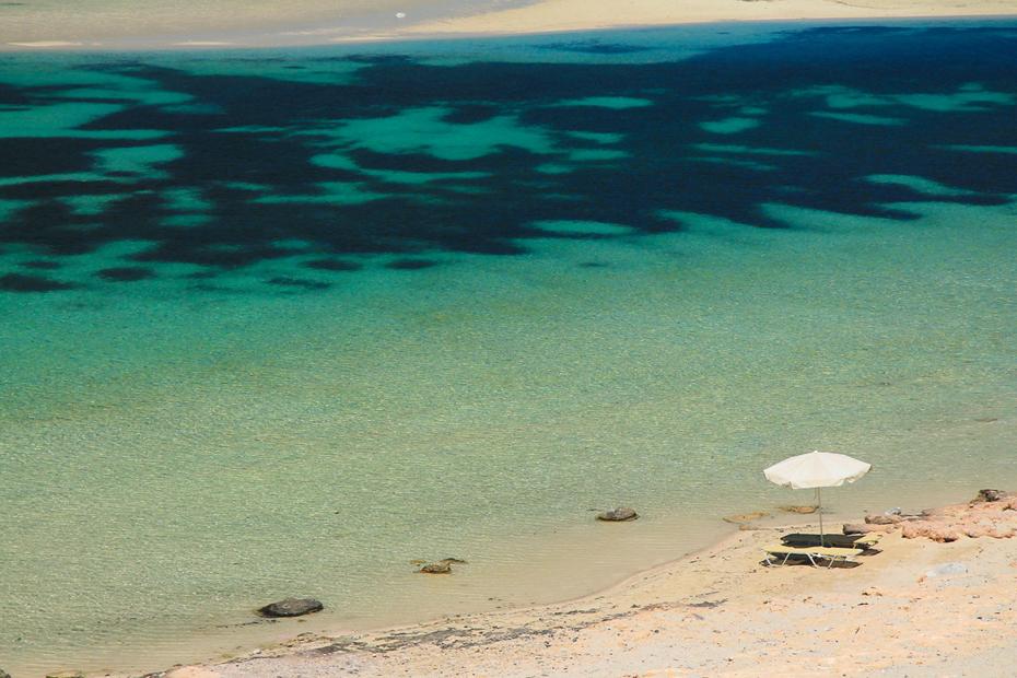 Piękna plaża na krecie
