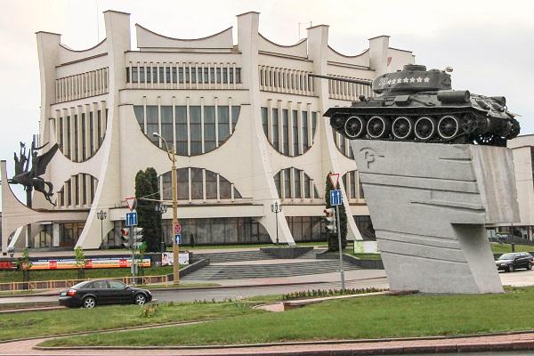 Grodno czołg teatr wielki