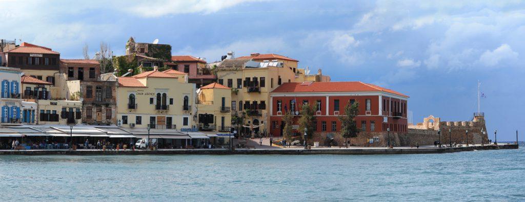 Port w Chania Kreta