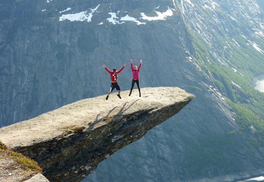 Język trolla skała norwegia