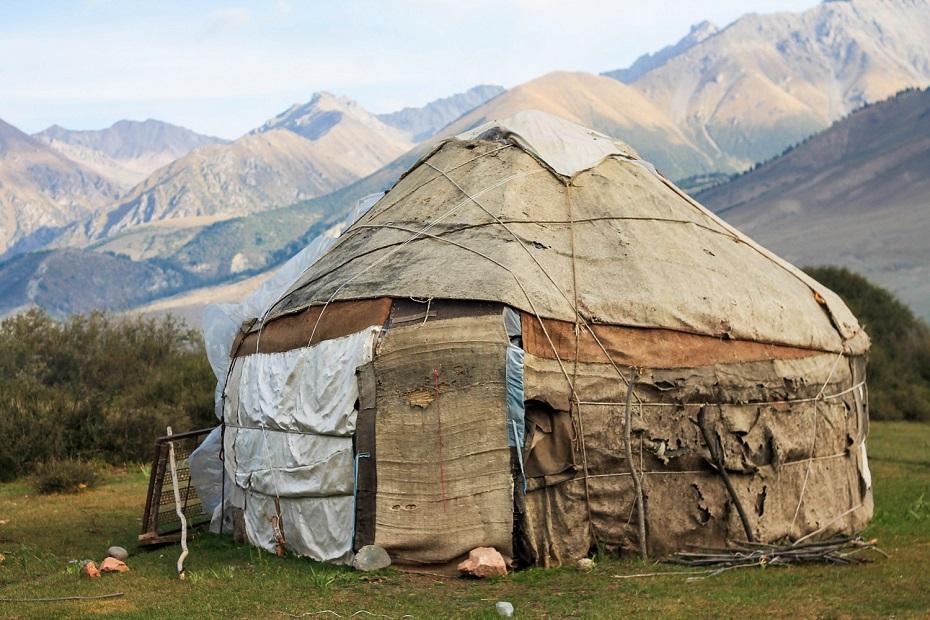 Kirgijska Jurta tradycyjna zdjęcie