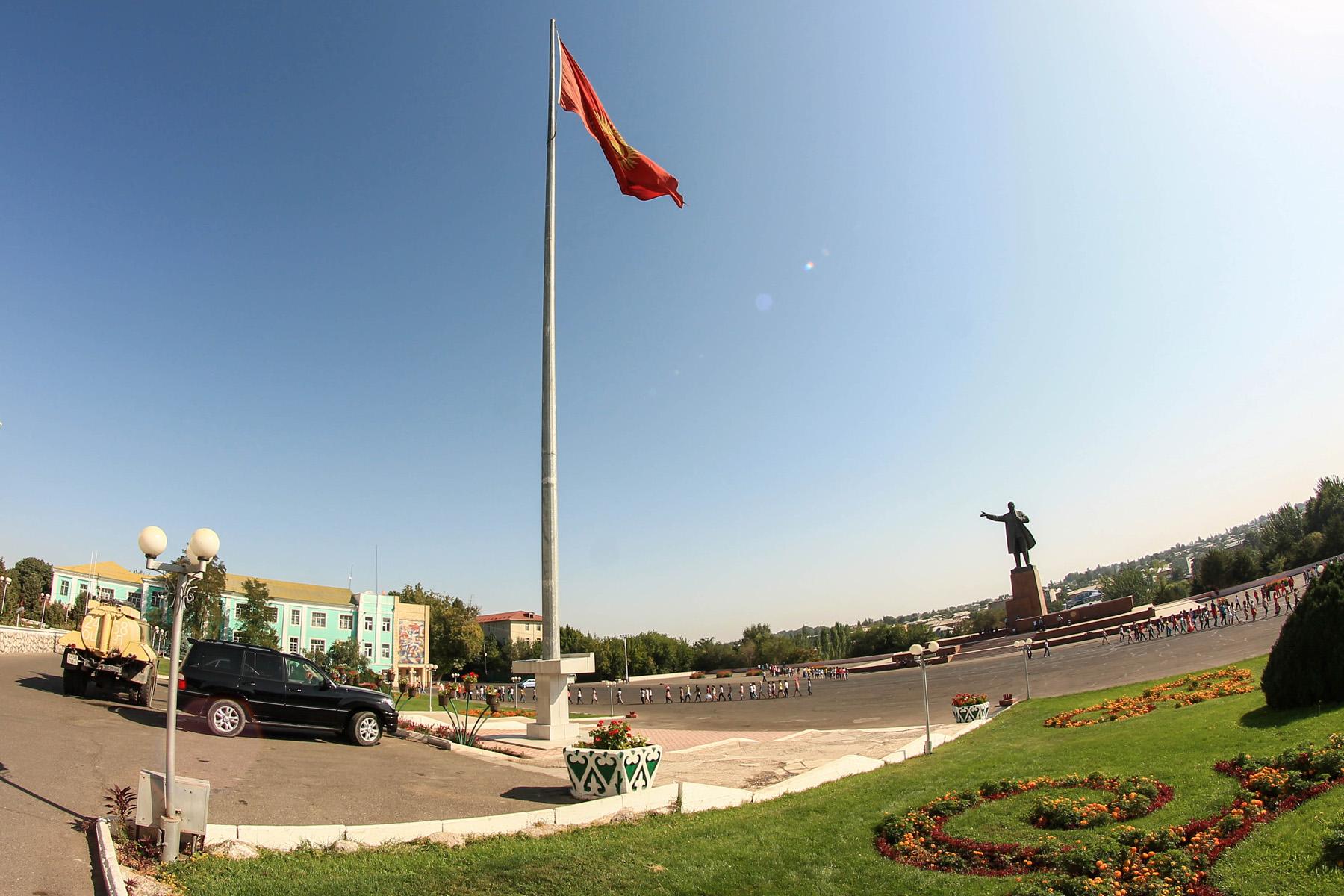 Główny plac Lenin  w Osz Kirgistan
