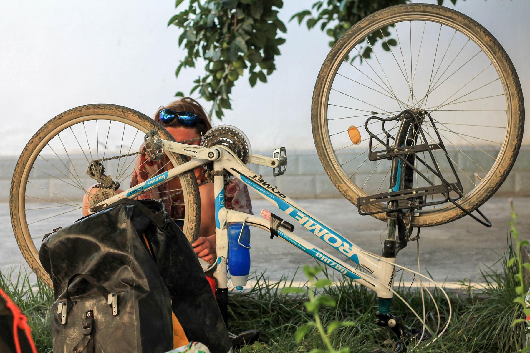 No i wracamy do siebie zająć się nieco rowerami przed dalszą podróżą.