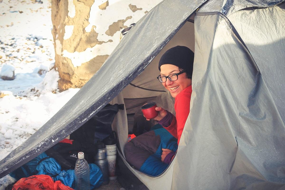 Ania! Zostaliśmy na wspólny biwak na 4500 m.npm!