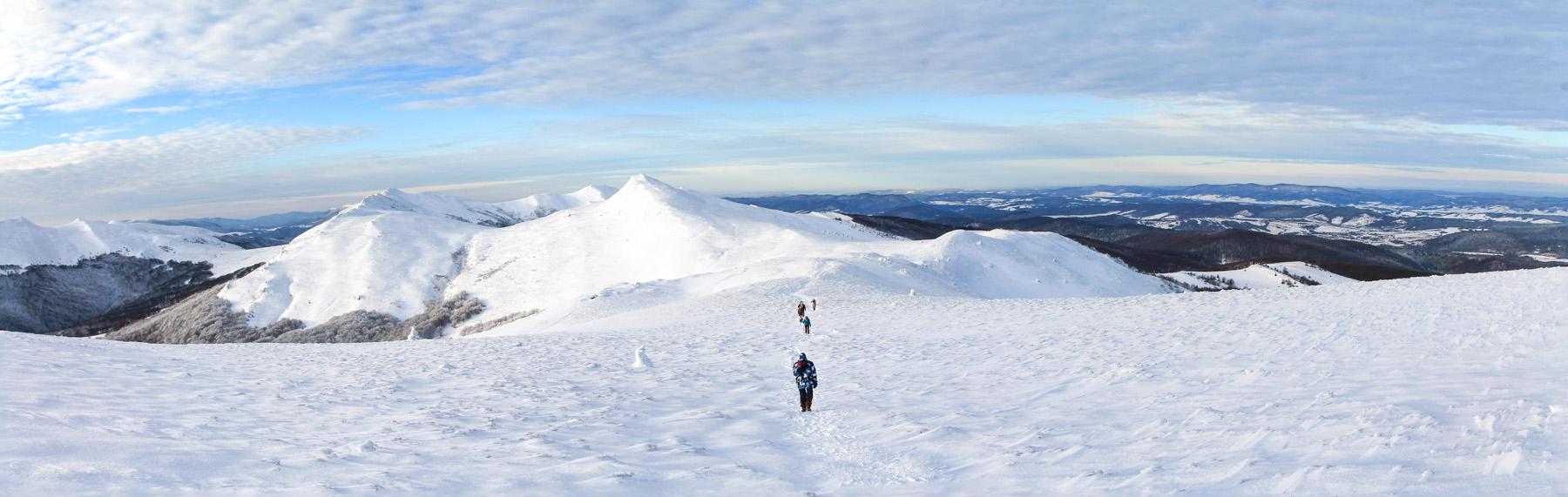 Panorama Bieszczady Zimą