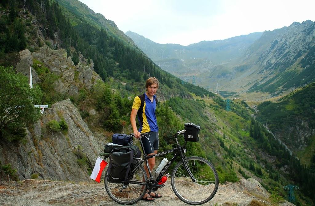 Podczas wyjazdu w Alpy.