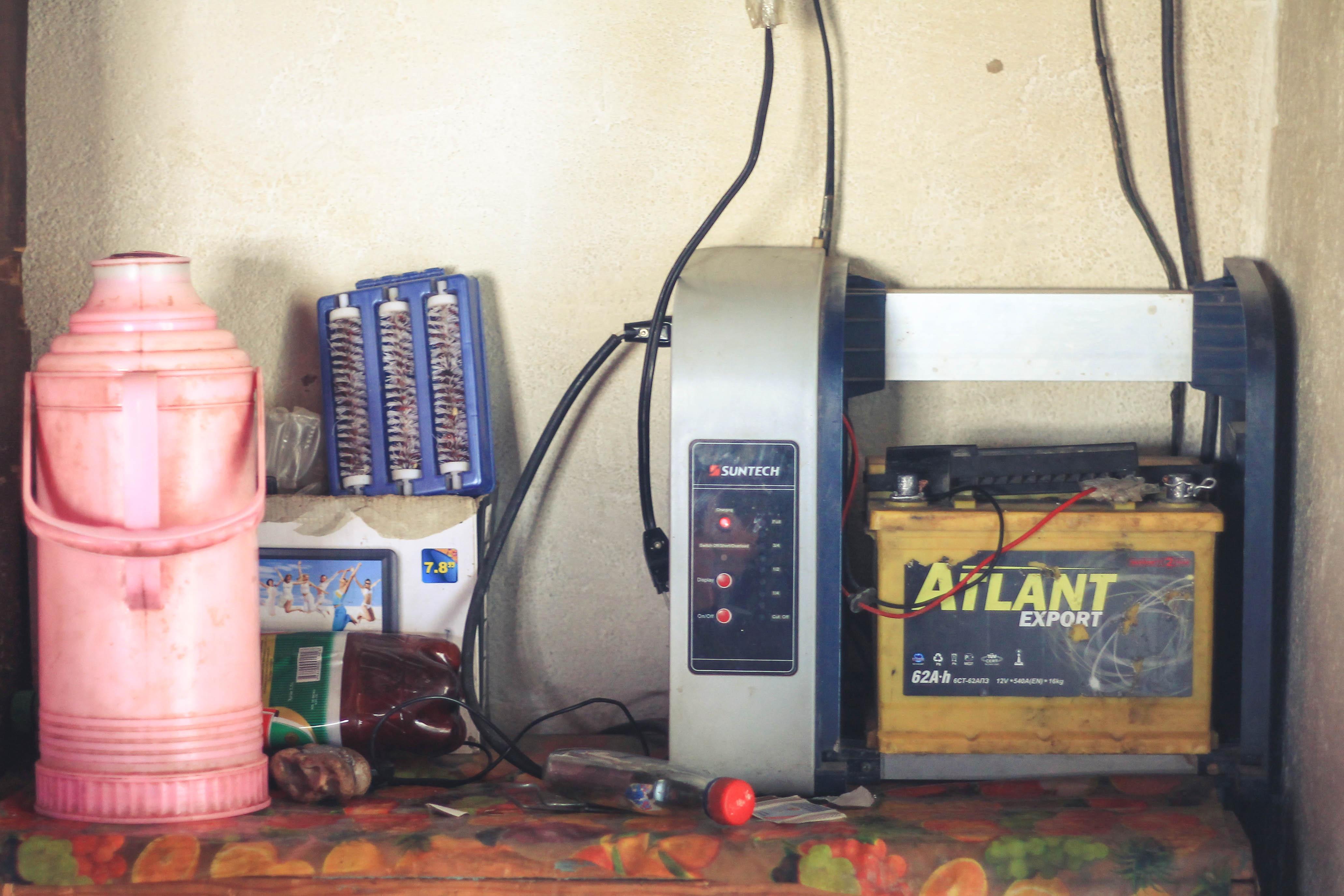 Akumulator w domu jednych z naszych gospodarzy.