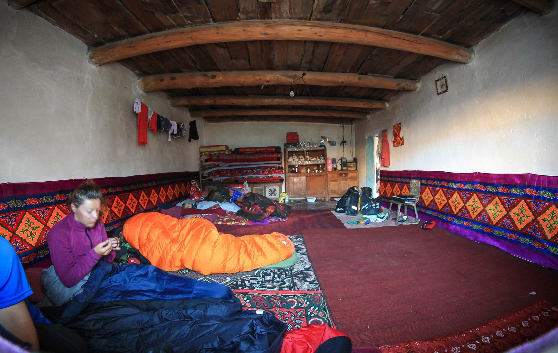 Pomieszczenie, gdzie zaproszono nas na noc
