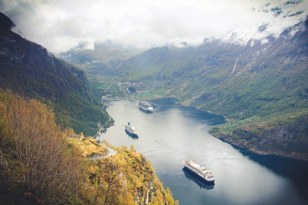 Geiranger praca w Norwegii