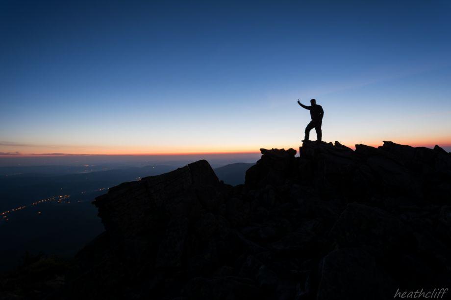 Wschód słońca na mojej ulubionej Górze - Diablak.