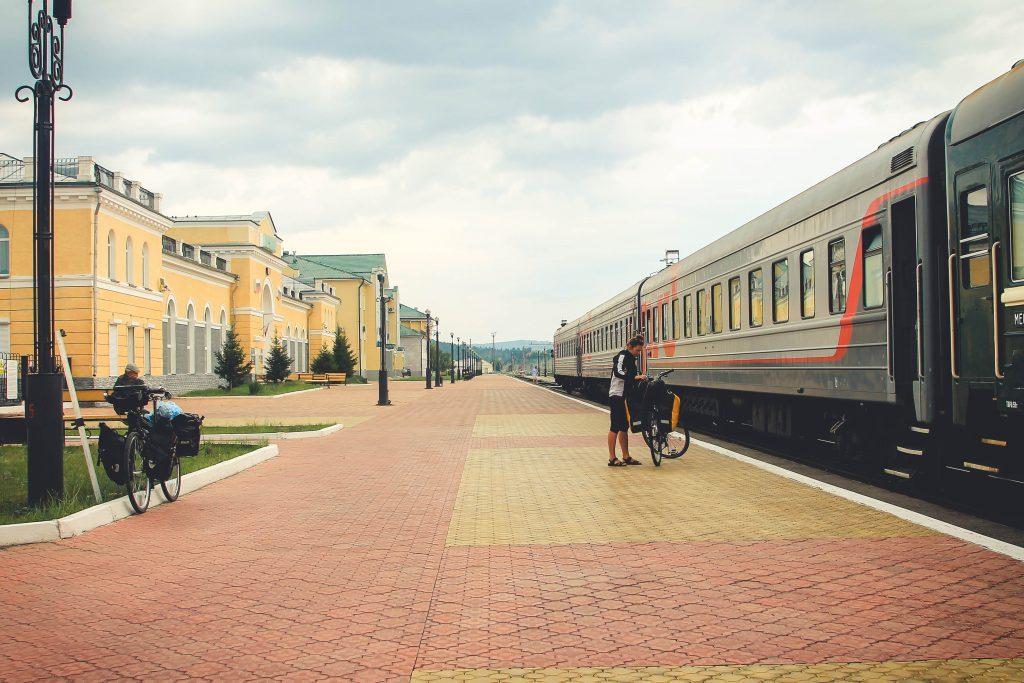 Dworzec w Nauszki. Ostatnia stacja przed granicą z Mongolią.