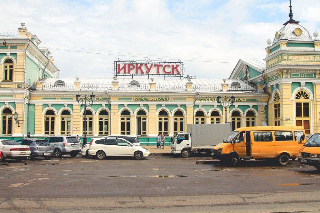 Dworzec kolejowy w Irkucku, skąd zaczynamy naszą dalszą przygodę z Rosją i Mongolią