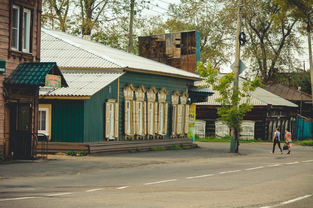 Zapadające się domy syberia