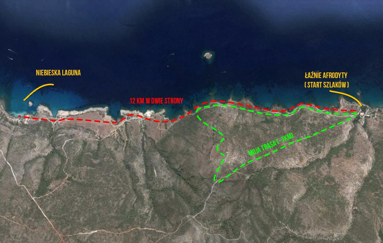 Półwysep akamas trasy piesze szlaki trekking