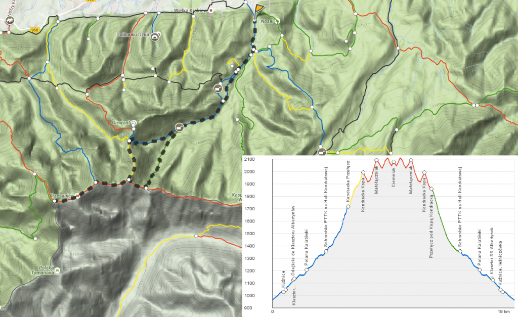 Tatry zimą trasa szlak z kuźnic na małołączniak i kopa kondracka