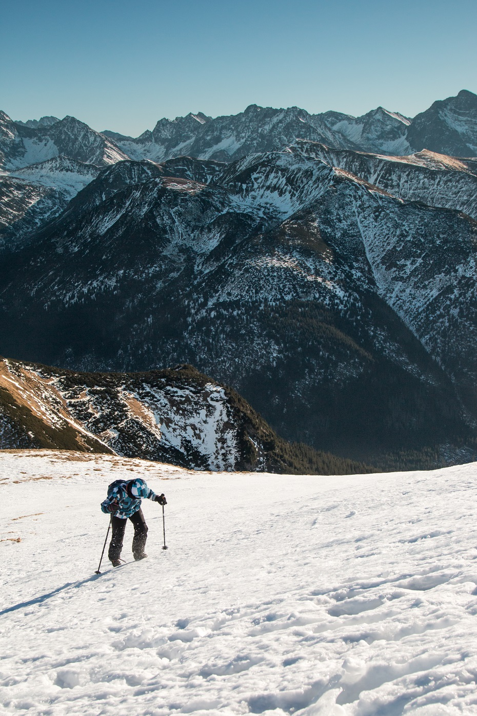 Tatry zimą zdjęcie panorama warunki