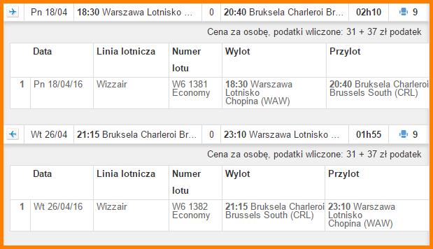 WARSZAWA-BRUKSELA
