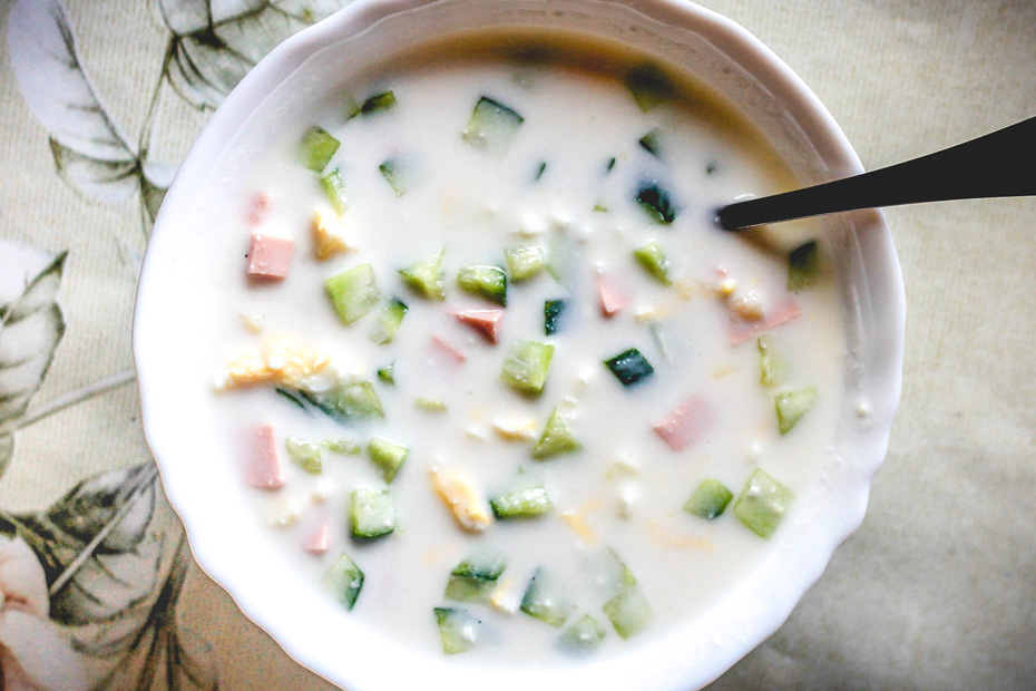 Zupa okroszka rosyjska