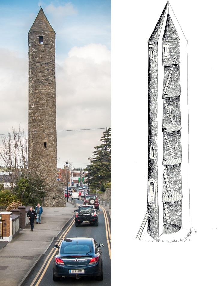 Wieże z kamienia Irlandia Historia