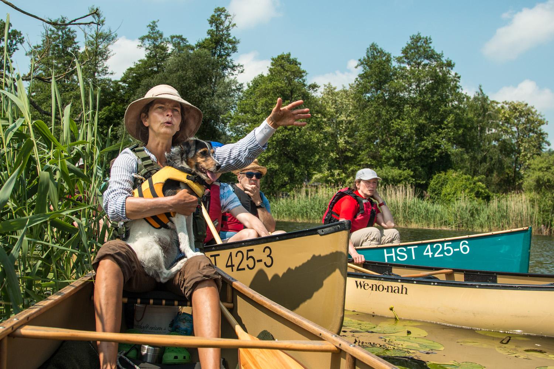 Pływanie kajakami kanu na Odrze