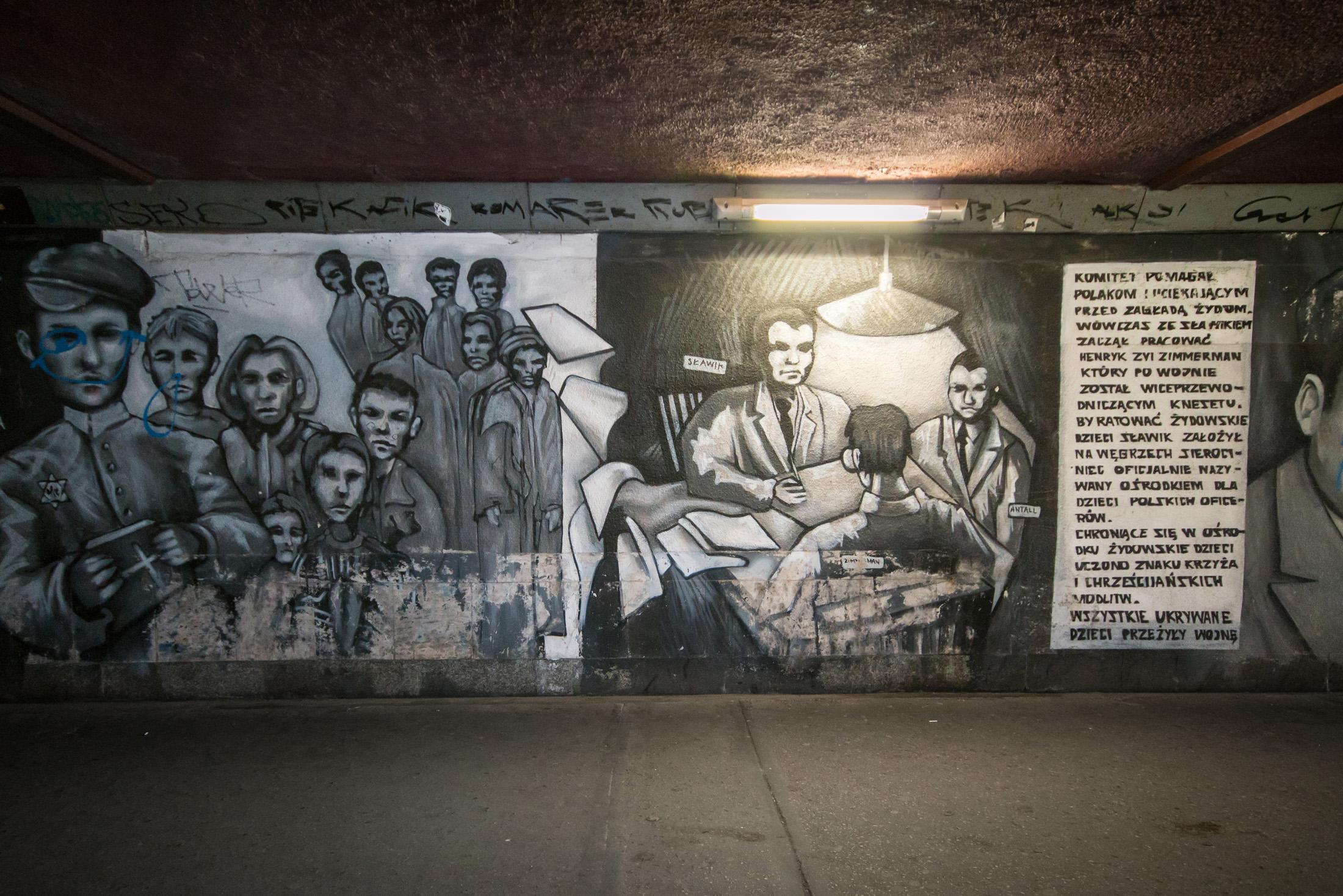 Przejście podziemne katowice murale
