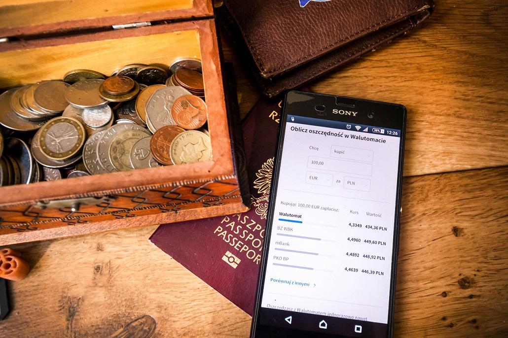 walutomat pieniąze w podróży