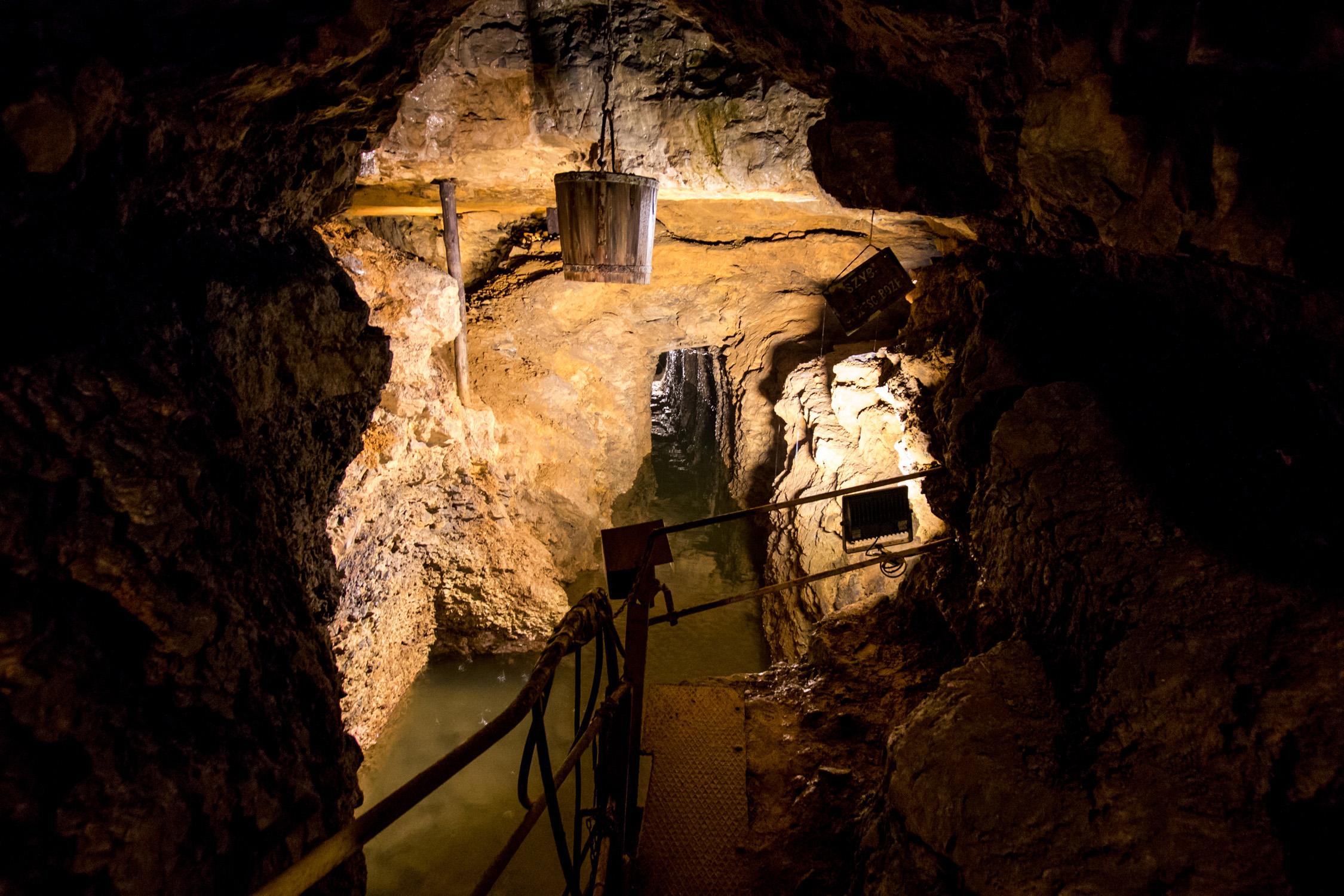 Siłą rzeczy fotografii z Sztolni Dziedzicznej także nie mam, więc fragment kanału z kopalni srebra w Tarnowskich Górach